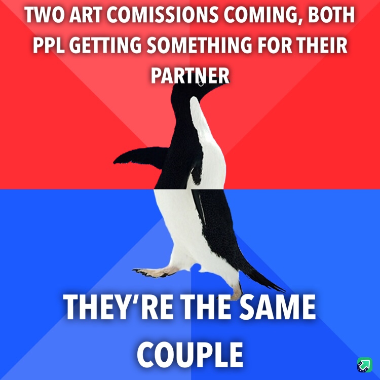 I draw little relationship comics, not my first comissions but first time this has happened